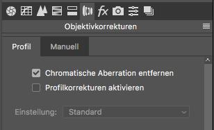 In Photoshop entwickeln - Objektivkorrekturen