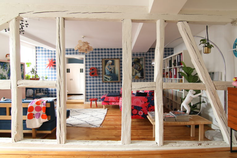 Holzbalken im Wohnzimmer