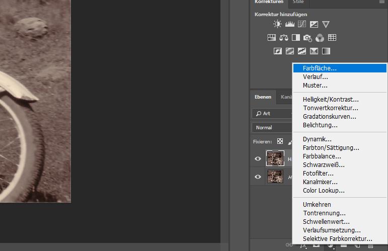 Abbildung 5: Fotos kolorieren - Farbfläche erstellen
