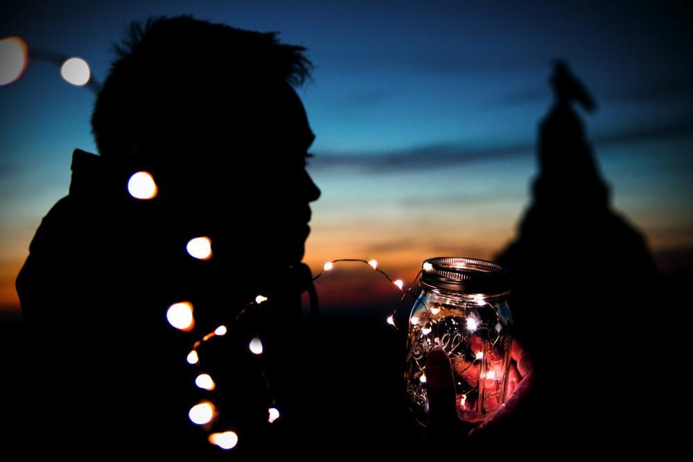 Fotografie mit Lichterketten