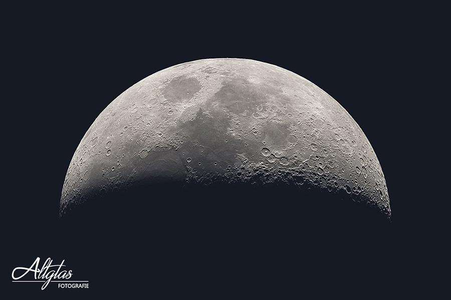 Mond fotografieren - Halbmond