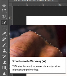 Abbildung 2: Freistellen in Photoshop
