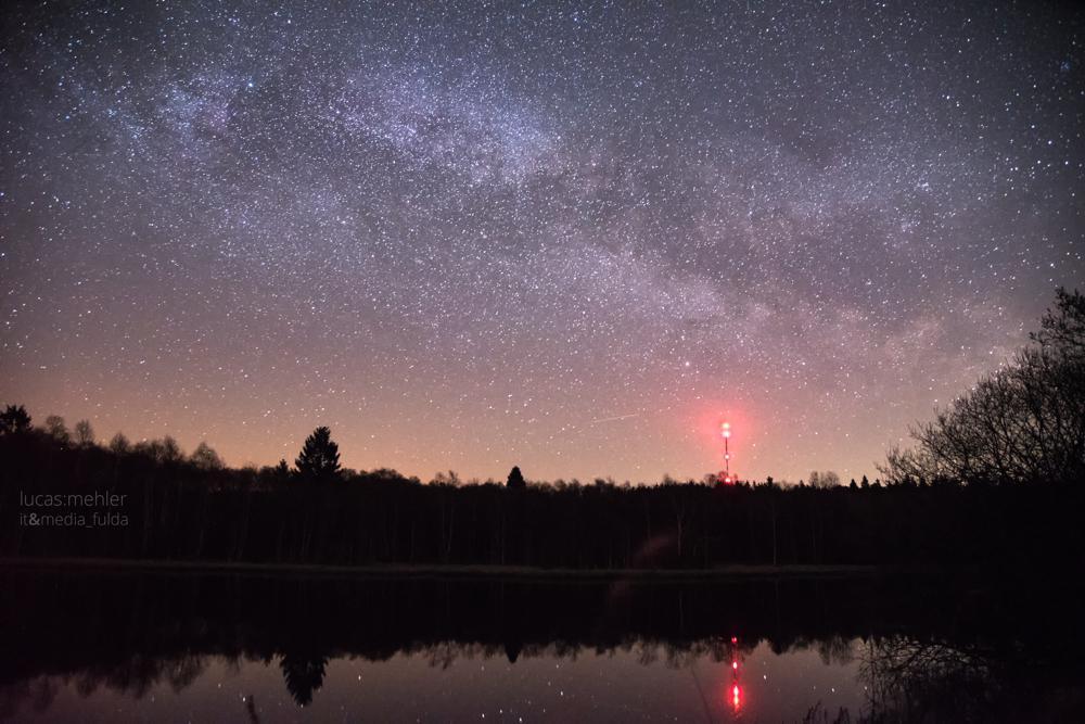 Nachthimmel am drei Länder Eck